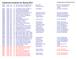 [PDF] Classroom locations for Spring 2015