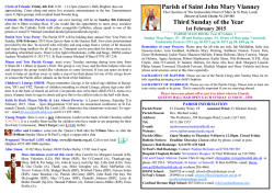 Parish of Saint John Mary Vianney Third Sunday of