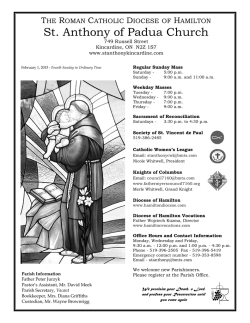 Weekly Bulletin - St. Anthony of Padua Roman Catholic Church