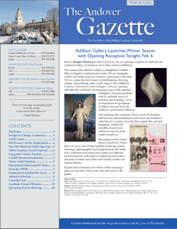 Gazette - Phillips Academy