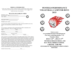 Boys Brochure - Penfield Performance Volleyball Camp