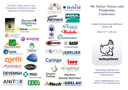 9th Turkey Science and Production Conference