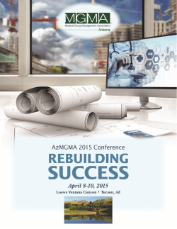 Conference Brochure - Arizona Medical Group Management