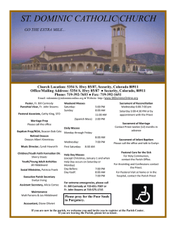 Bulletin - St Dominic Catholic Church