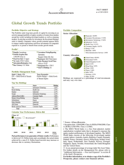 Global Growth Trends Portfolio