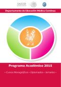 cursos y programa académico 2015 - Hospital Infantil de México