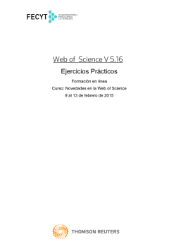 Ejercicios para Web of Science