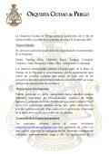 Orquesta Sinfónica Ciudad de Priego (Plantilla)