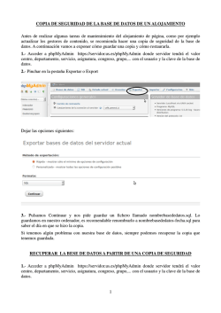 1 COPIA DE SEGURIDAD DE LA BASE DE DATOS DE UN