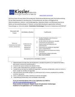 Kissler. Técnico Instalaciones de BT/MT/AT
