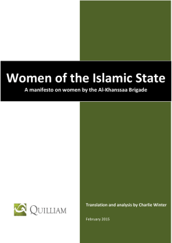 Women in the Islamic State Translation of a Manifesto