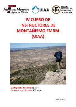TIM04-2015-02 Convocatoria IV Instructor de Montañismo FMRM