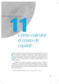 Lectura 3: Cómo calcular el costo de capital