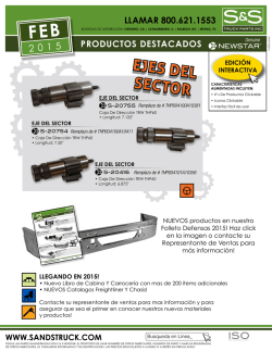 EJES DEL SECTOR - S and S Truck Parts Inc.