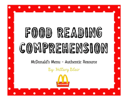 Food Reading Comprehension
