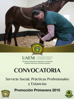 Descarga la Convocatoria - Facultad de Medicina Veterinaria y