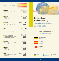Internationale Rentenberatung - Deutsche Vertretungen in Spanien