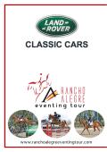 Programa / Program 5-8 Feb - Rancho Alegre Eventing Tour