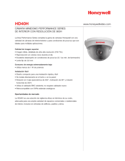 HD40H - Honeywell Video Systems