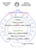 MENÚ DOMINGO 8 de FEBRERO de 2015 PAELLA PAPAS con