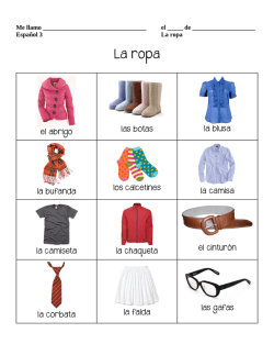 clothes vocab