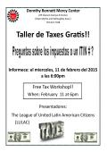 Taller de Taxes Gratis!! - Dorothy Bennett Mercy Center