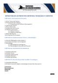 estructura de los proyectos cientificos, tecnologico y artistico