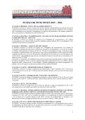 PLIEGO DE PETICIONES 2015 – 2016