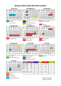 Springer Public School 2014-2015 Calendar