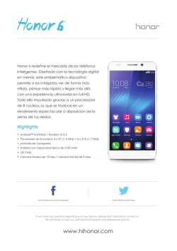 Honor 6 - Specsheet pdf