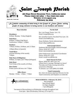 Read our bulletin - St. Joseph Parish