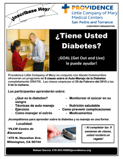 ¿Tiene Usted Diabetes? - Wilmington Neighborhood Council