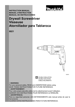 Drywall Screwdriver Visseuse Atornillador para Tablaroca