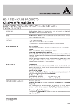 SikaProof®Metal Sheet
