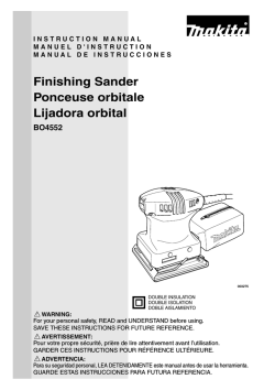 Finishing Sander Ponceuse orbitale Lijadora orbital