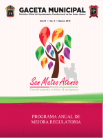 programa anual de mejora regulatoria 2015