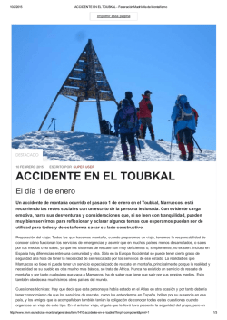 ACCIDENTE EN EL TOUBKAL