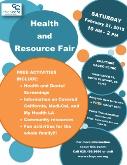 Health Resource Fair Health Resource Fair