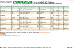 Hong Kong Sailing Schedules