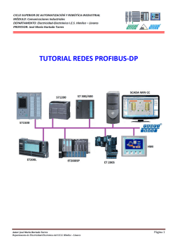 TUTORIAL REDES PROFIBUS-DP - Blog de Electricidad