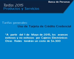 Tarifas 2015 - Banco de Occidente