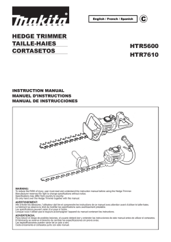 hedge trimmer taille-haiess cortasetos htr5600 htr7610