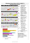 2015-16 Calendar A - DRAFT - Shikellamy School District