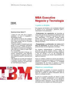 MBA Executive Negocio y Tecnologia