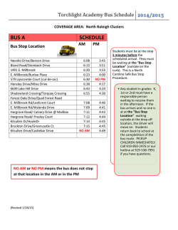 Bus Schedules
