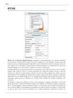 HTML 1 HTML, siglas de HyperText Markup Language («lenguaje
