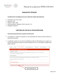 Manual de la Aplicación WEB CUIS 2015