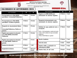 Calendario Ordinario 2015 - ESCA