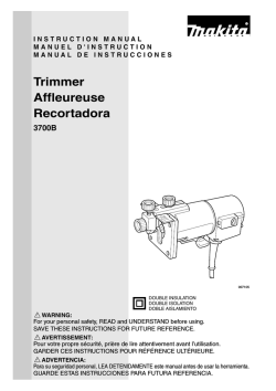 Trimmer Affleureuse Recortadora
