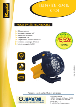 Foco 19 Led Recargable